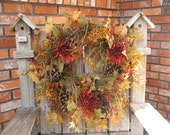 AUTUMN SPLENDOR WREATH....was 75.00 now 40 per cent off- plus half off shipping