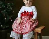 Candy Cane Stripe Christmas Dress Custom Newborn to 4T