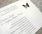 Tuscan Oceanside Butterfly Wedding Invitation Sample Set