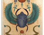 Egyptian Winged Scarab Art Print