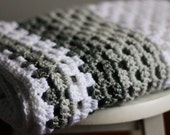 crocheted baby or lap blanket- shades of grey