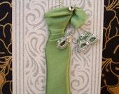 Jade Personalised Dress Card / Handmade Greeting Card
