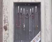 Salvaged Shabby Cabin - Black Distressed Shadow Box Jewelry Display