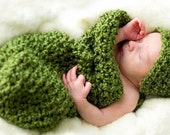 Newborn Cocoon Photo Prop in Grass Green