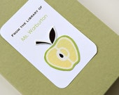 Teacher Bookplates with Fabric Apples