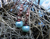Robin's Egg Pearl Earrings (CUSTOM pearl colors and wire color)