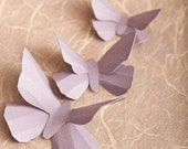 3D Wall Butterflies, 10 Lavender Butterfly Silhouettes for Home Art Decor, Nursery, Children's Room
