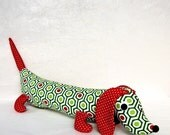 NEW Merry the Christmas Plush Dachshund