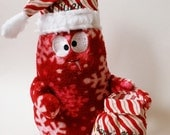 Santa's Helper Monster Buddy Stuffed Toy - Free Customization - Red and White