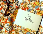 MODERN LEAF  Shoe Bags (tangerine, brown, blue)Travel Accessories, Drawstring Bag
