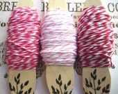 135 ft. RED CHERRY PINK Bakers Twine Christmas Peppermint Twist 3 colors twisted with white