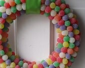 Rainbow Gumdrop Wreath