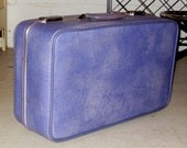 Vintage Purple Suitcase