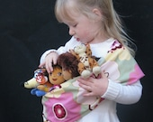 Baby Doll Sling Toy Pouch Carrier - Garden Party - FAST SHIPPING