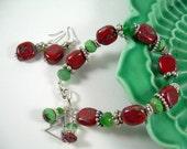 Joyeux - Picasso Bead Christmas Bracelet