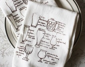 beer lover glassware floursack tea towels - set of two