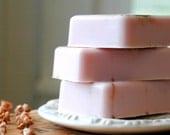 Pink Sugar and Cinnamon . cocoa butter soap