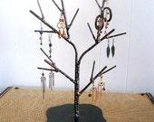 Medium Jewelry Display Tree, Metalic Black and Copper Finish