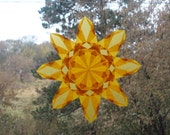 Yellow 8 Point Window Star Sun Catcher Summer Winter Solstice Holiday Home Decor Birthday Wedding Anniversary Gift Ecofriendly Sustainable Natural Home Decoration Naturalkids Team Naturalkids HandmadeMN Etsymom SHETeam FFEST UWIBteam etsykids team
