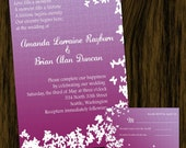 Sweet Purple Butterfly Wedding Invitation