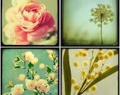 SALE -  TTV Botanicals - Four 5x5 prints on metallic paper