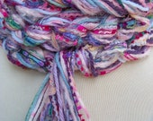 HandKnit Scarf - The Pippy PASTEL Skinny Scarf - Pinks, Teal, Lavendar -  FREE SHIPPING with purchase of 2 or more items