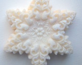 Elaborate Holiday Snowflake Soap ...  Peppermint - Cinnamon - Vanilla twist scent