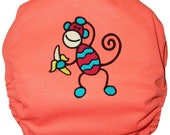 Monkey Embroidered Pull On