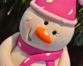 HOPE the SNOWMAN - Polymer Clay Christmas Winter Figurine
