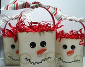 Snowman Treat Bag or Stocking Stuffer container