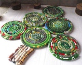 Bohemian Coiled Christmas Tree Mat