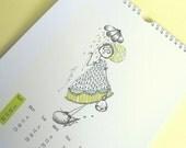 SALE-2011 Printable Art Calendar-PDF you can print