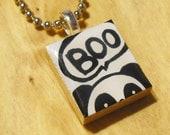 Peak-A-Boo Panda Scrabble Tile Necklace