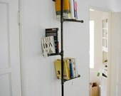 Industrial Pipe Book Shelf with Antique Detail