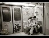 New York, SUBWAY EMBRACE, Clyde Keller Photo Art on Etsy - Treasury - Large 16x20 Inch Art Print