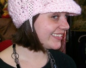 Soft Pink Cap With Brim