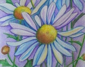 Daisy Darlings flowers Fine Art original watercolor painting