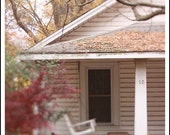 Fall Porch: Fine Art Photographic Print