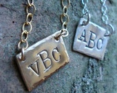 Collins Handstamped GOLD necklace