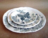Nesting Butterfly Hand Built Trinket Dishes