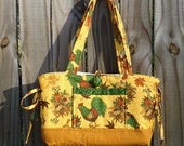 Rooster Quilted Purse