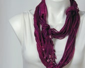 The Soba Scarf in Deep Magenta