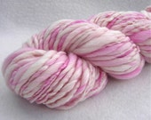 Rose  Petal Kisses- 92 yards Super Bulky Thick and Thin Handspun yarn