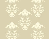 French Damask Flourish E Reusable Stencil - for fabric, wood, paper, canvas, walls - 6x7