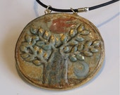 Hedgehog and Tree of Life - two sided pendant