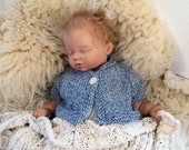 Blue Short Sleeved Baby Sweater