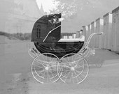 Ancient Baby Carriage - Fine Art Print  - Analog Photography - Double exposition