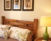 Headboard made from wine barrel