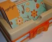 Hand Crafted Wood Recipe Keeper, Recipe File Box, Recipe Organizer