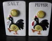 A Pair of Rooster Salt and Pepper Shakers